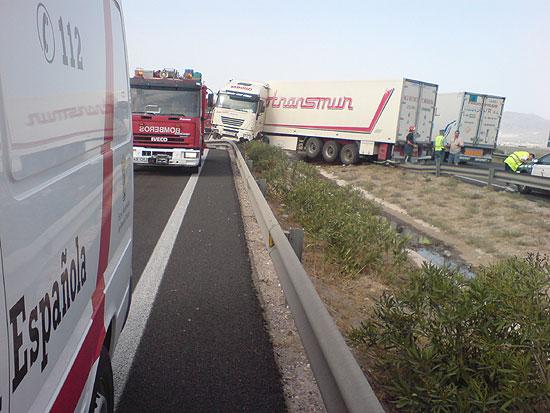 La tercera fase de la operación salida de Agosto se salda con varios accidentes en el valle del Guadalentín, Foto 1