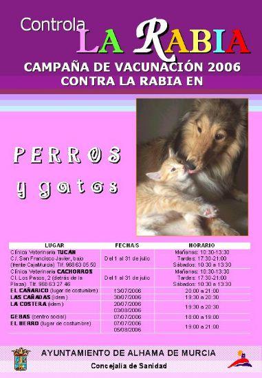 Iniciada la campaña de Vacunación 2006 contra la Rabia en Perros y Gatos, Foto 1