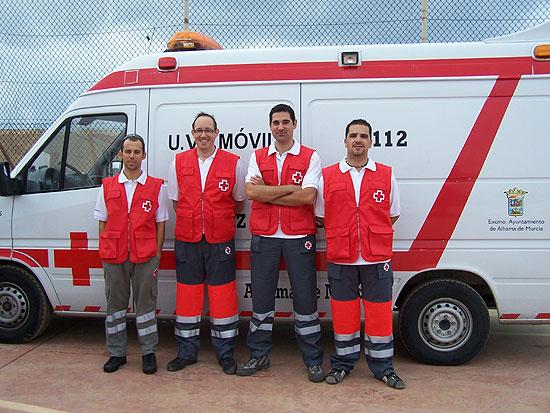 La Asamblea Local de Cruz Roja  Alhama colabora con la Armada Española en un simulacro, Foto 1