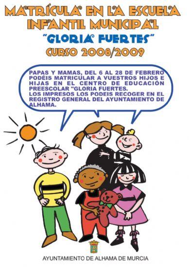El 6 de febrero se abre el plazo de matrícula para la Escuela Infantil Gloria Fuertes, Foto 1
