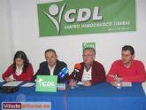 El Centro Democr�tico Liberal (CDL) de Alhama de Murcia dio su segunda rueda de prensa para tratar temas relacionados con Obras y Servicios, Vivienda, Empleo y Formaci�n, Comercio e Industria y Econom�a y Hacienda, entre otros asuntos